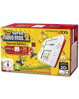 Nintendo 2DS New Super Mario Bros. 2 Bundle -White/Red-