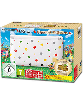 Nintendo 3DS XL Animal Crossing Bundle -white- (inkl. Animal