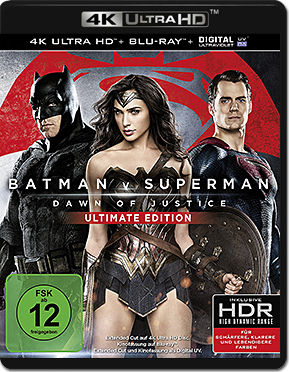 Batman v Superman: Dawn of Justice - Ultimate Edition Blu-ray UHD (2 Discs)