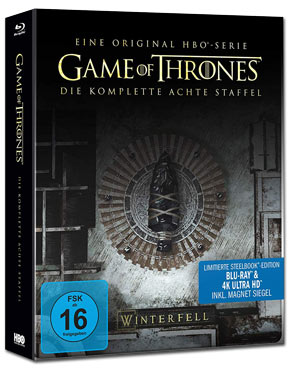Game of Thrones: Staffel 8 - Steelbook Edition Blu-ray UHD (6 Discs)