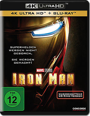 Iron Man 1 Blu-ray UHD (2 Discs)