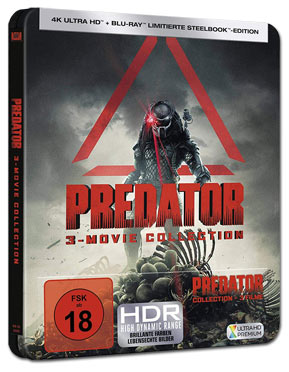 Predator - 3-Movie Collection Steelbook Blu-ray UHD (6 Discs)