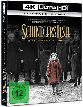 Schindlers Liste - 25th Anniversary Edition Blu-ray UHD (2 Discs)