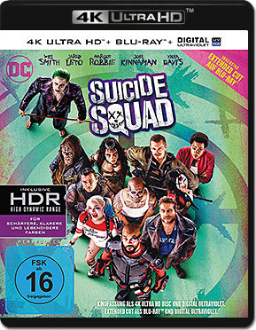 Suicide Squad - Extended Cut Blu-ray UHD (2 Discs)
