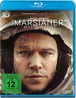 Der Marsianer: Rettet Mark Watney Blu-ray 3D (2 Discs)