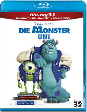 Die Monster Uni Blu-ray 3D (3 Discs)