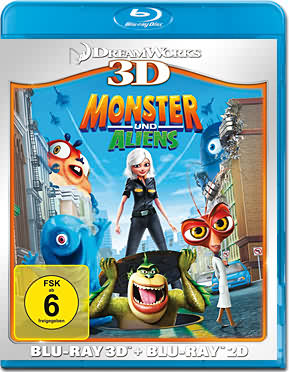 Monster und Aliens Blu-ray 3D