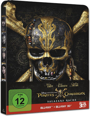 Pirates of the Caribbean 5: Salazars Rache - Steelbook Edition Blu-ray 3D (2 Discs)