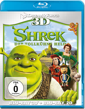 Shrek 1: Der tollkühne Held Blu-ray 3D