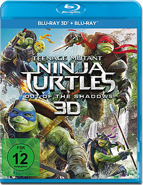 Teenage Mutant Ninja Turtles 2: Out of the Shadows Blu-ray 3D (2 Discs)