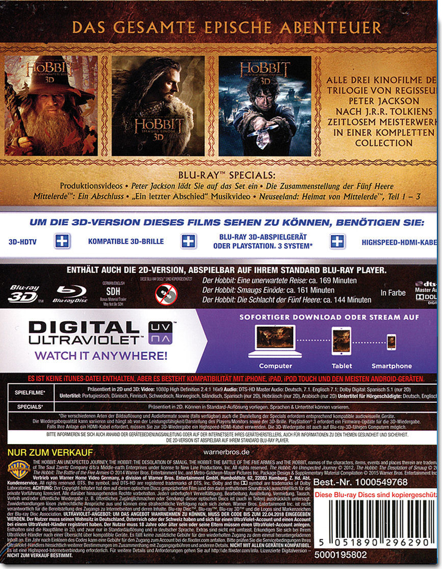 Lord Of The Rings Trilogy Extended Barcode