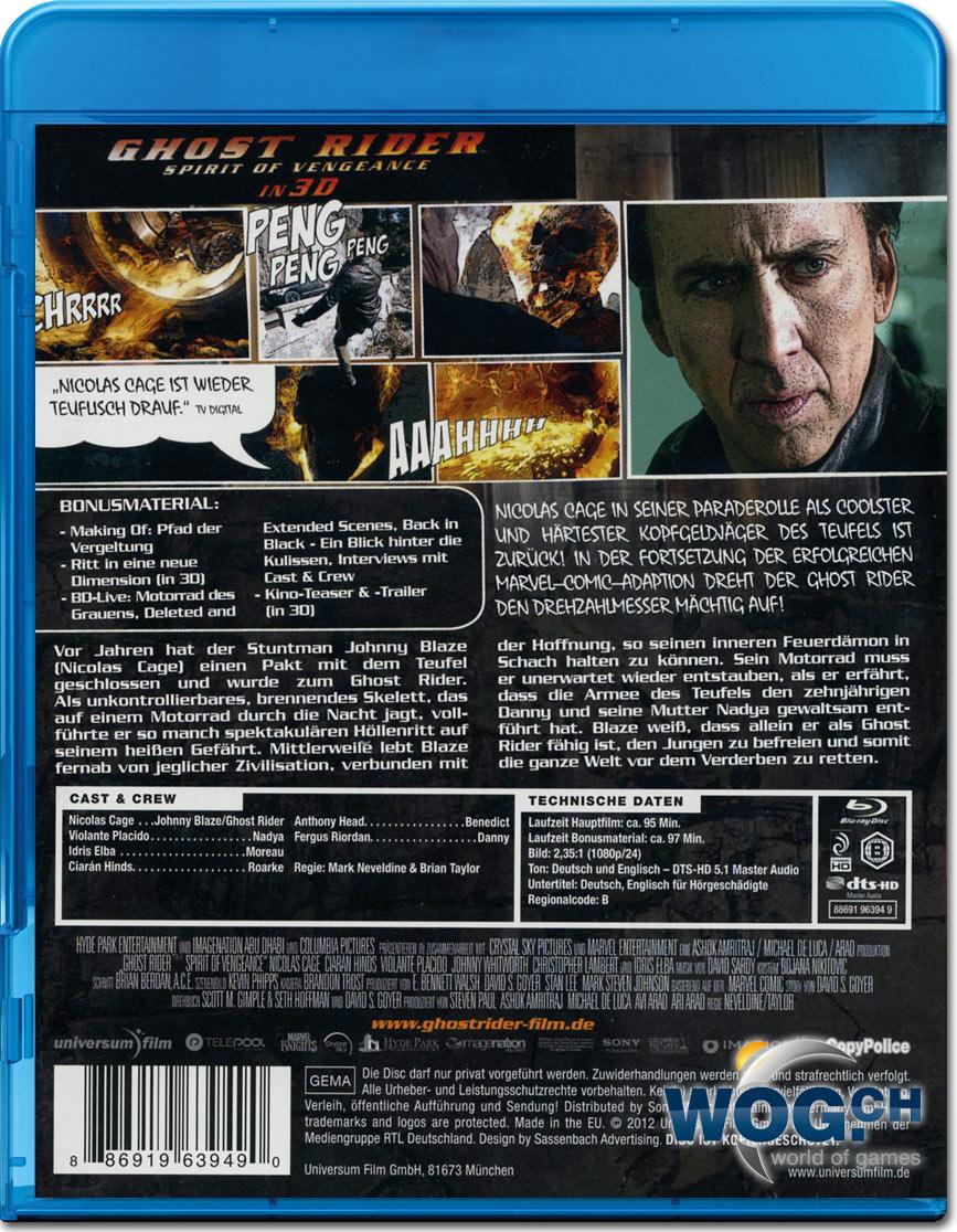 Ghost Rider 2: Spirit of Vengeance Blu-ray 3D [Blu-ray 3D