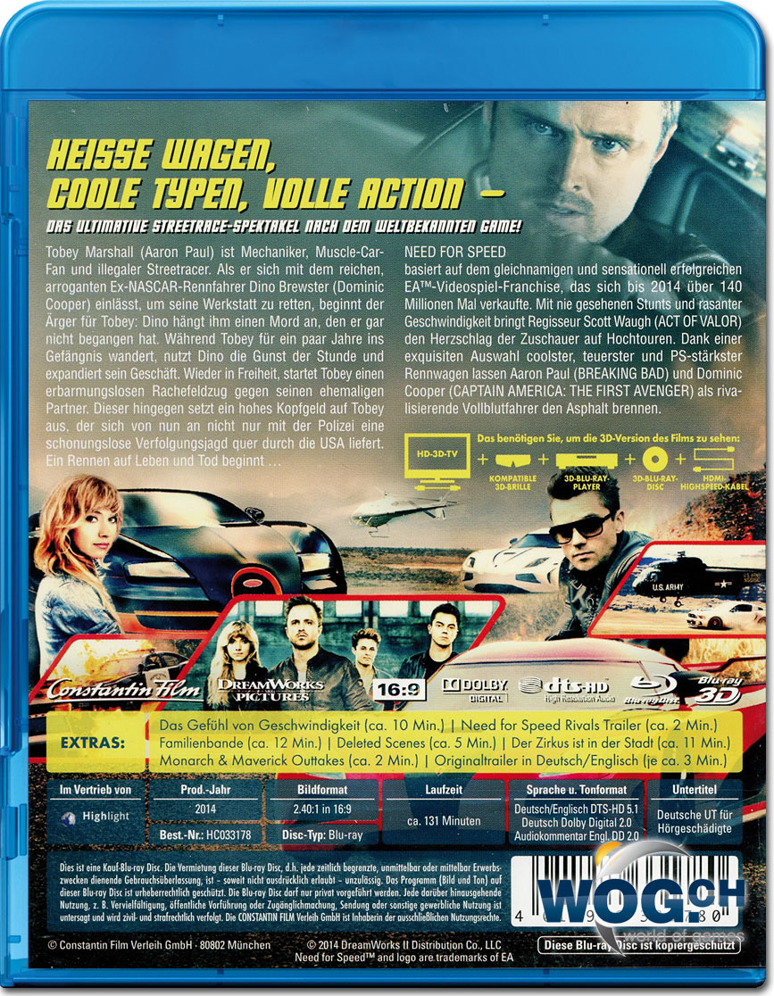 need for speed 3d blu ray release date And here's one tha disney isn't giving 3d blu-ray release particular 3d will get a proper blu-ray release french/uk release need for speed 3d was.