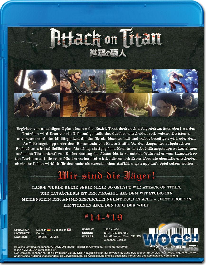 Attack On Titan Vol 3 Blu Ray Anime Blu Ray O World Of Games