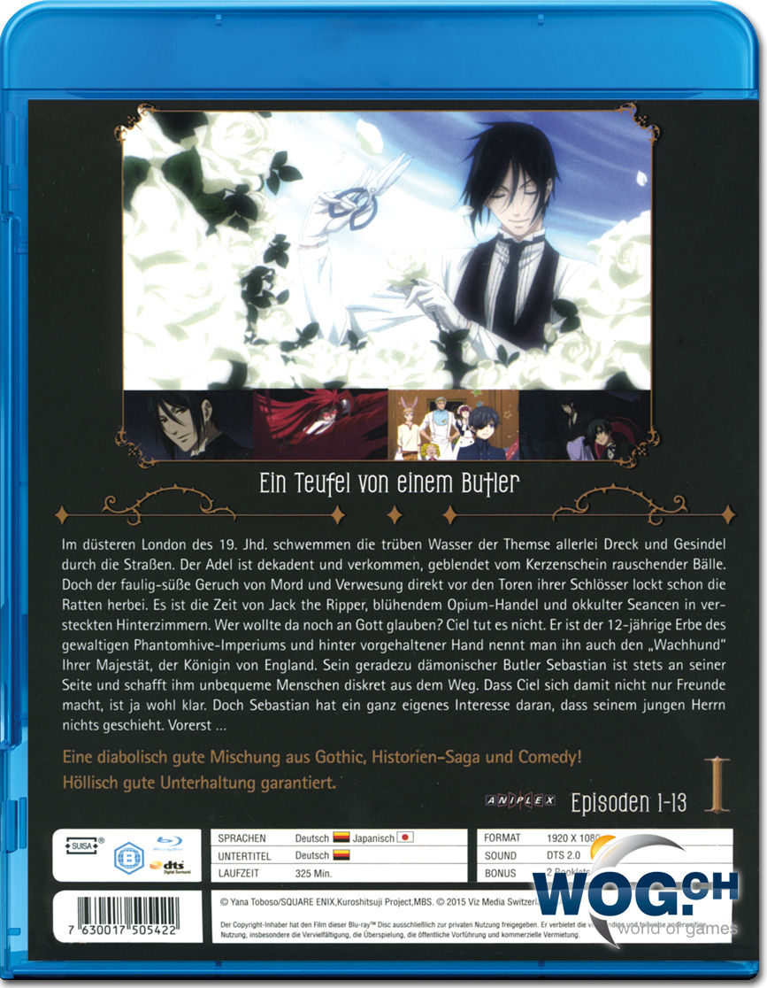 black butler vol 1 blu ray anime blu ray world of games. Black Bedroom Furniture Sets. Home Design Ideas