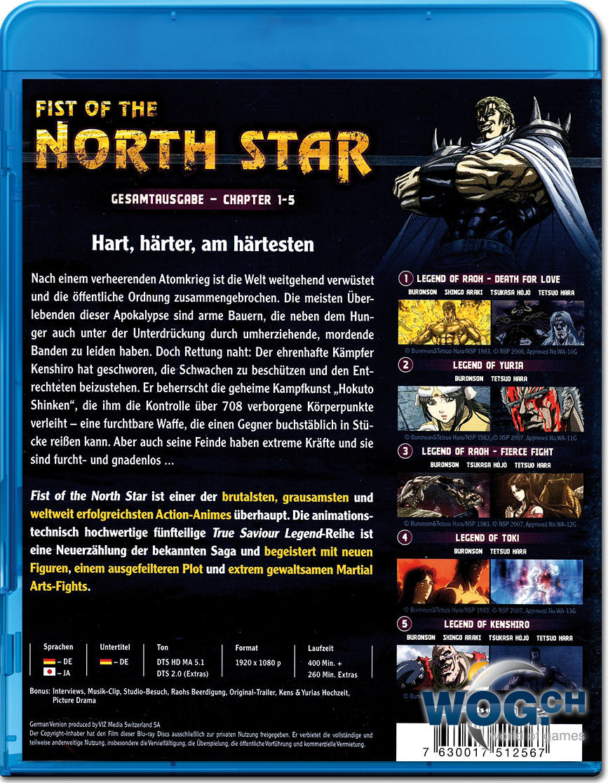 fist of the north star the legends of the true savior blu ray