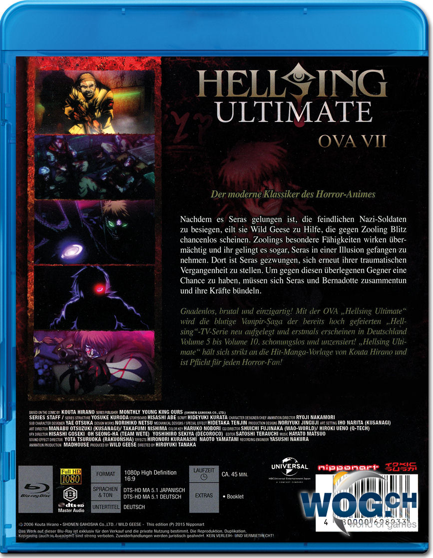 Hellsing Ultimate OVA 07 Blu-ray [Anime Blu-ray] • World of Games