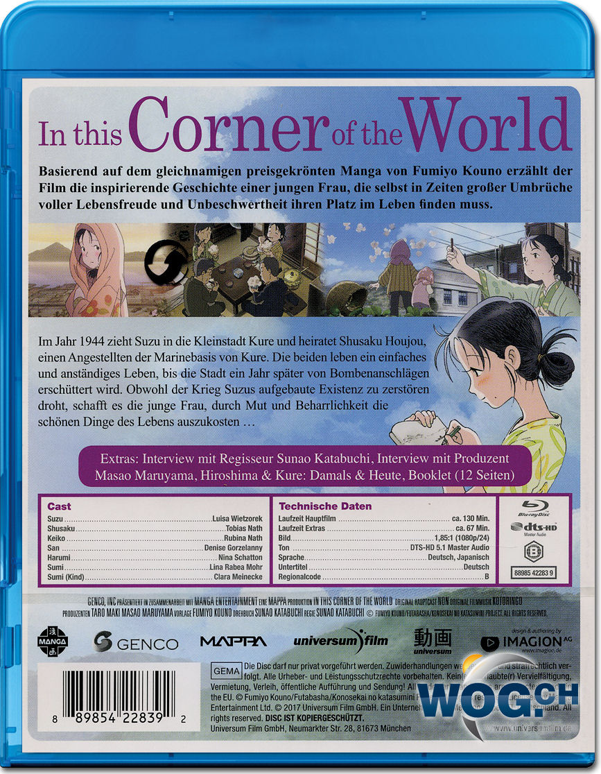 In this Corner of the World Blu-ray [Anime Blu-ray] • World of Games
