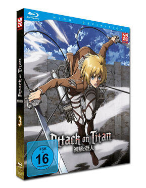 Attack on Titan Vol. 3 Blu-ray