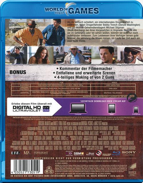 2 Guns Blu-ray [Blu-ray Filme] • World of Games2 Guns Blu Ray Cover