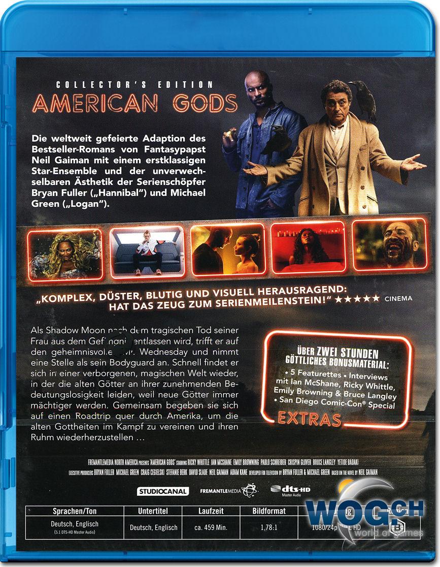 american gods staffel 1 box   collector s edition blu ray