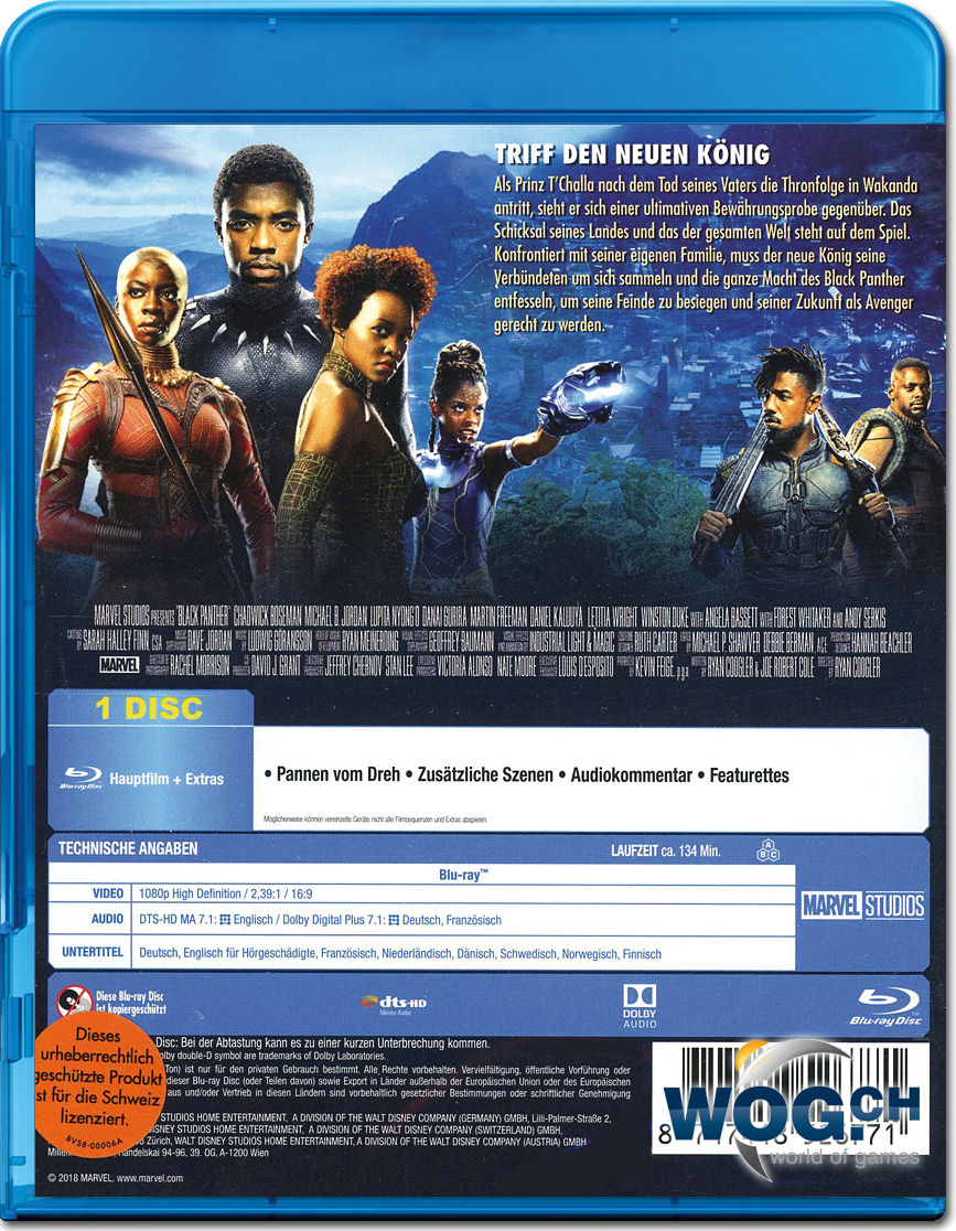 Black Panther Blu Ray Blu Ray Filme World Of Games