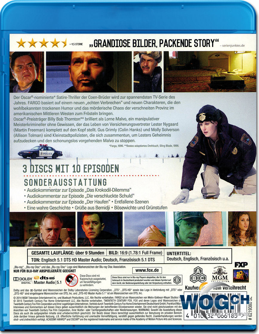Fargo Staffel 1 Blu Ray 3 Discs Blu Ray Filme World Of Games