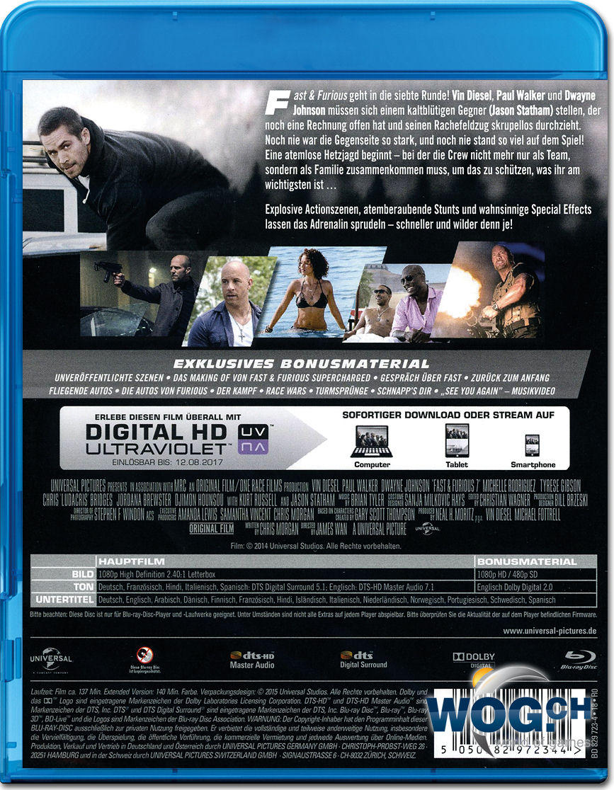 fast furious 7 extended version blu ray blu ray filme world of games. Black Bedroom Furniture Sets. Home Design Ideas
