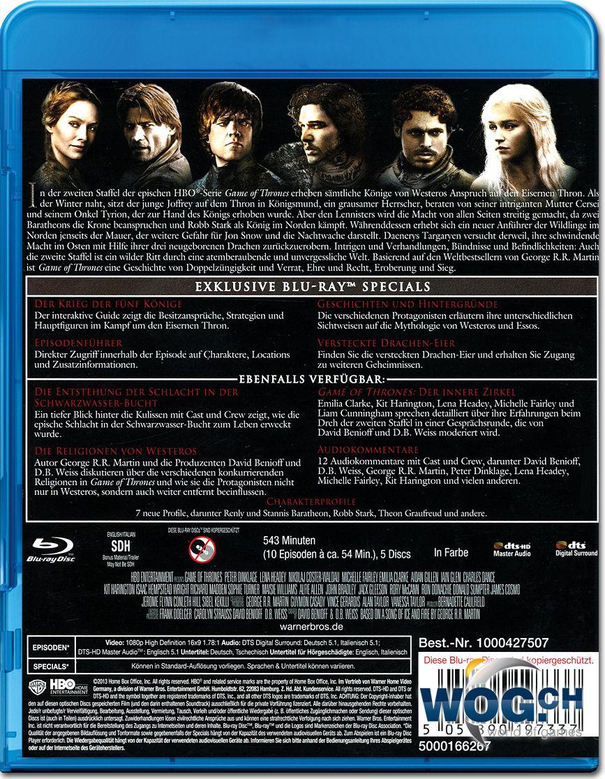 Game Of Thrones Staffel 2 Blu Ray 5 Discs Blu Ray Filme World