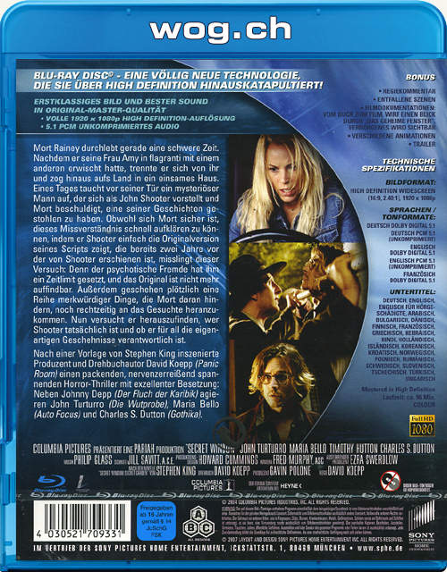 Das Geheime Fenster Blu Ray Blu Ray Filme World Of Games