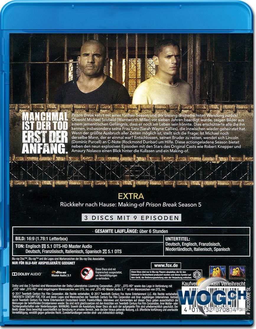 prison break staffel 5 dvd