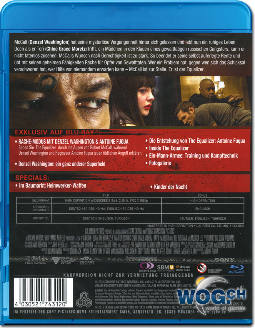 The Equalizer Blu Ray Blu Ray Filme World Of Games