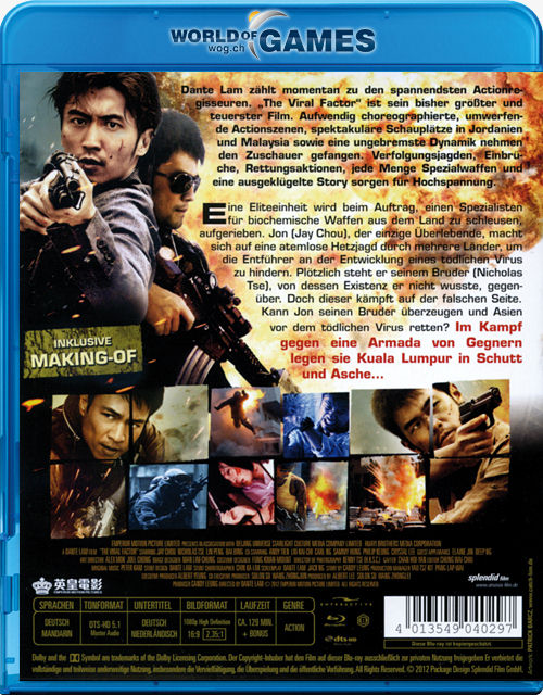 The Viral Factor Blu Ray Jik Zin Hk China 2012 Genre Action Regisseur