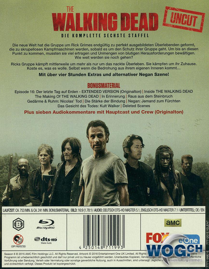 The Walking Dead Staffel 6 Steelbook Edition Blu Ray 6 Discs