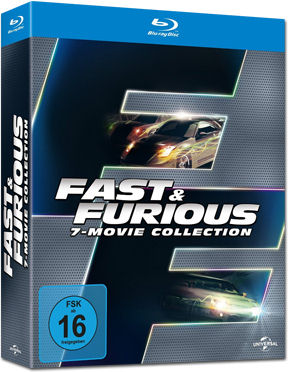Fast & Furious - 7 Movie Collection Blu-ray (7 Discs)