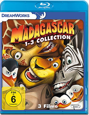 Madagascar 1-3 Collection Blu-ray (3 Discs)