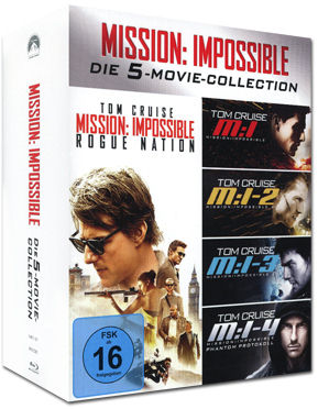 Mission: Impossible - Die 5-Movie-Collection Blu-ray (5 Discs)