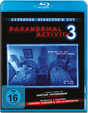 Paranormal Activity 3 - Extended Cut Blu-ray