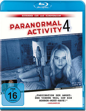Paranormal Activity 4 - Extended Cut Blu-ray