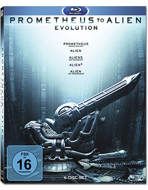 Prometheus to Alien: The Evolution Box Blu-ray (5 Discs)