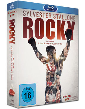 Rocky - 40 Jahre Jubiläums-Collection Blu-ray (6 Discs)