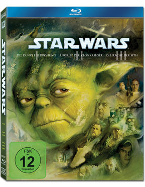 Star Wars Episode 1-3 Trilogie Blu-ray (3 Discs)