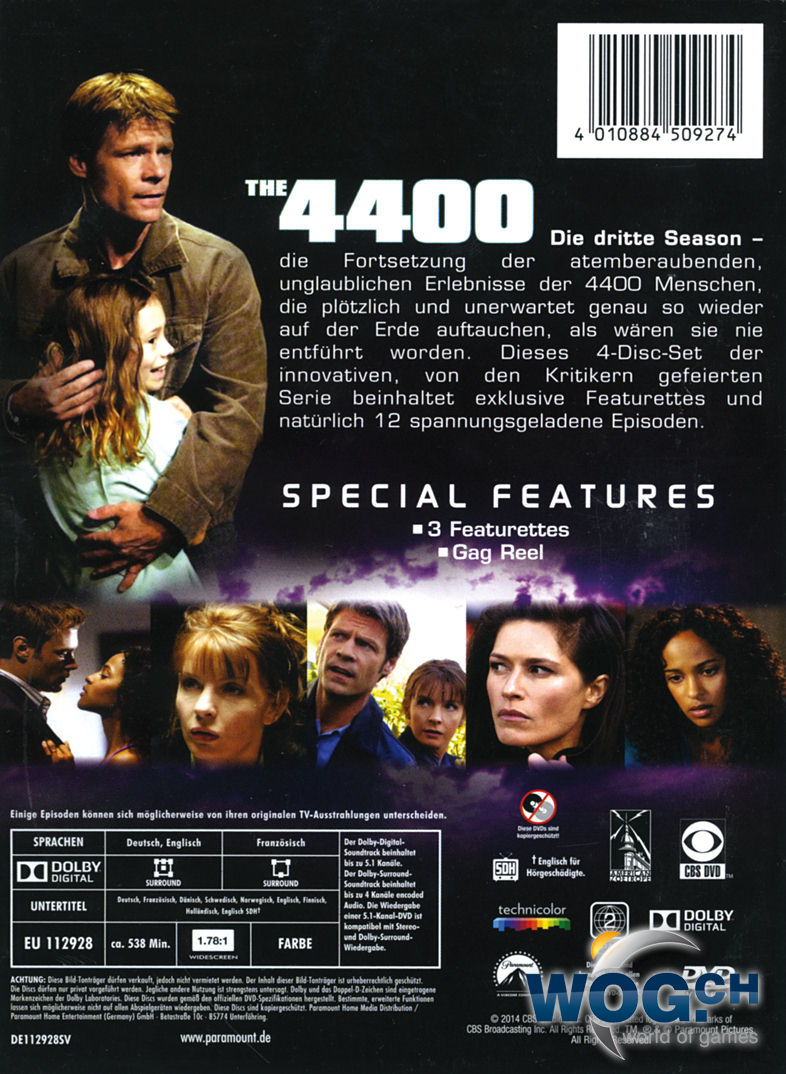 The 4400: Die Rückkehrer - Staffel 3 Box (4 DVDs) [DVD Filme]
