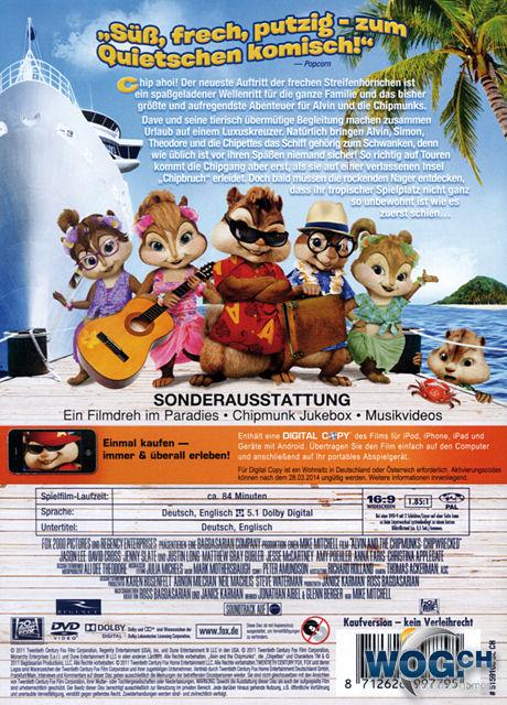 Alvin Und Die Chipmunks 3 Chipbruch Dvd Filme World Of Games