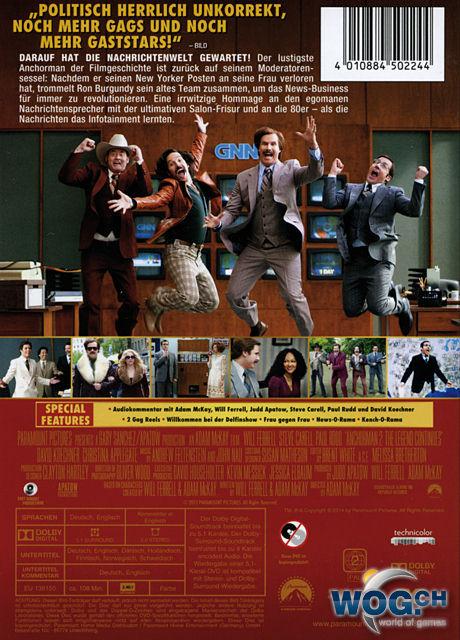 anchorman 2 die legende kehrt zur252ck dvd filme � world