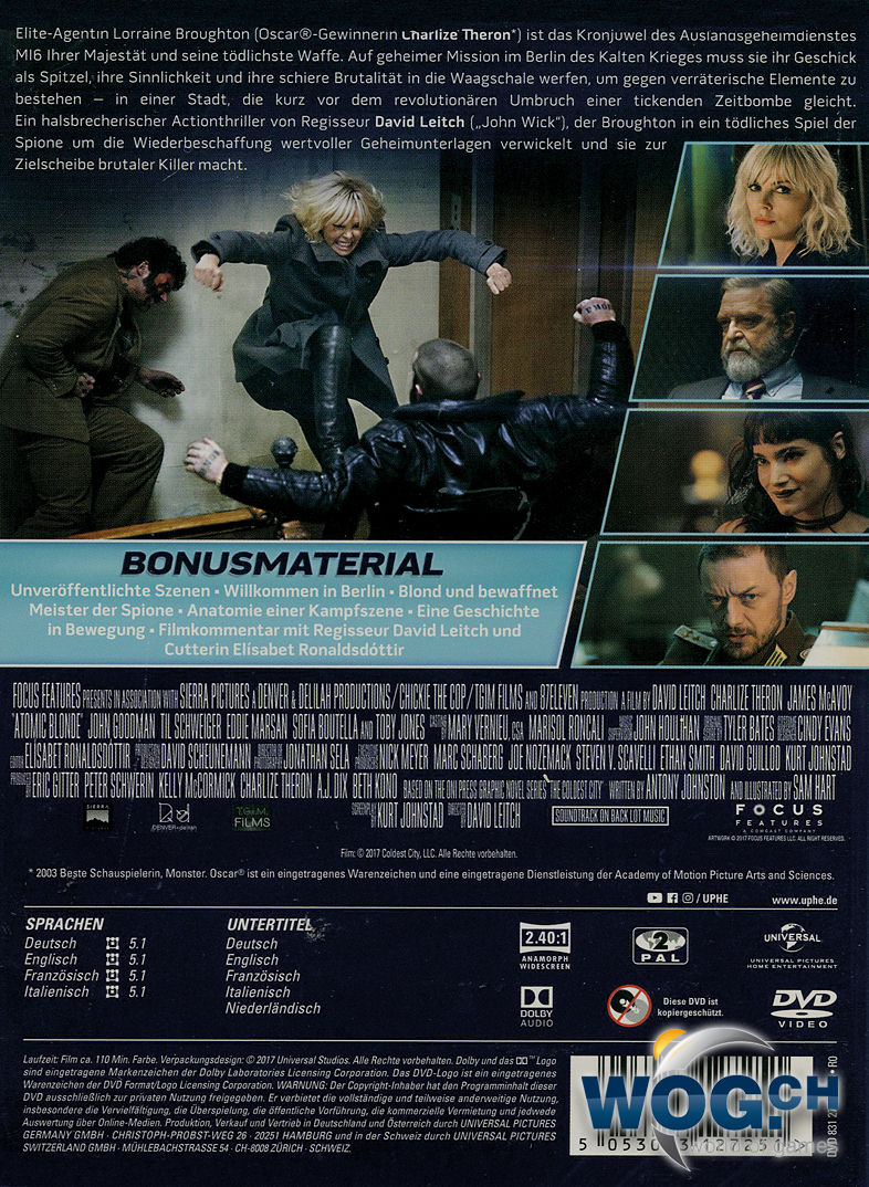 Atomic Blonde [DVD Filme] • World of Games