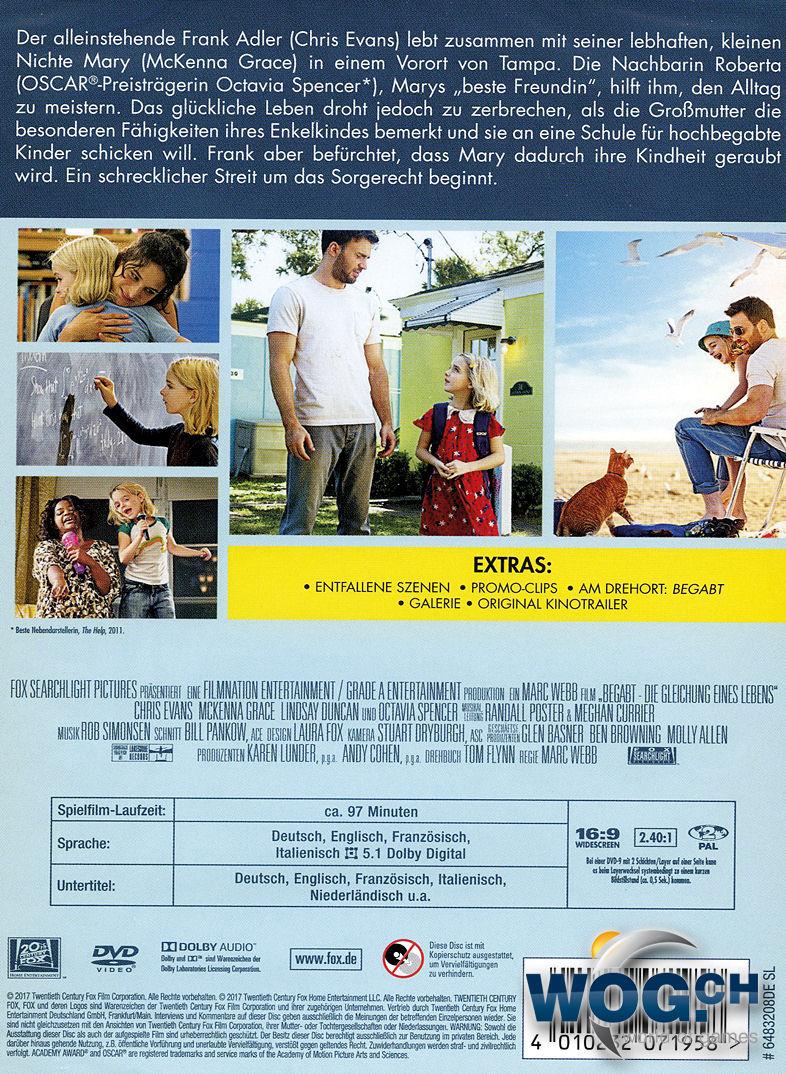 Begabt: Die Gleichung eines Lebens DVD Filme • World of ...