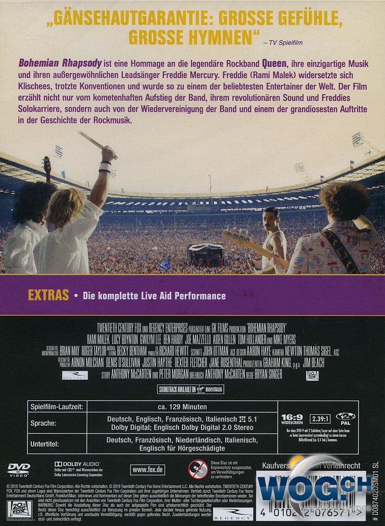 Bohemian Rhapsody Dvd Filme World Of Games