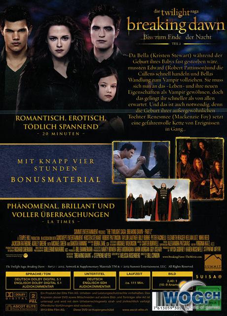Breaking Dawn Biss Zum Ende Der Nacht Teil 2 Fan Edition 2 Dvds