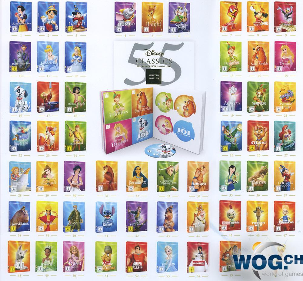 Disney Classics Die Komplette Sammlung Limited Edition 55 Dvds Dvd Filme